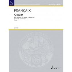 Francaix, Jean: Octuor : pour clarinette, cor, basson, 2 violons, alto, violon- celle et contrebasse 8parties