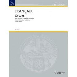 Francaix, Jean: Octuor : pour clarinette, cor, basson, 2 violons, alto, violoncelle et contrebasse, partition