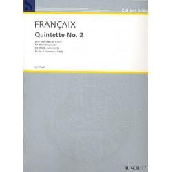 Francaix, Jean: Quintett no.2 : pour instruments à vent parties