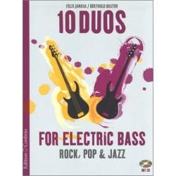 10 Duos (+CD) : für 2 E-Bässe Spielpartitur in Noten/Tabulatur
