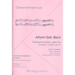 Bach, Johann Sebastian: Konzert d-Moll BWV974 : für Violine (Mandoline) und Gitarre Partitur und Stimmen