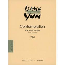 Yun, Isang: Contemplation : für 2 Violen 2 Spielpartituren