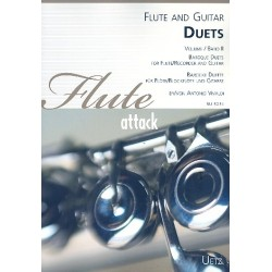 Vivaldi, Antonio: Duets vol.2 - Vivaldi : for flute (recorder) and guitar score