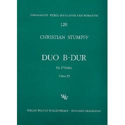Stumpff, Chr.: Duett B-Dur op.15 : für 2 Violen Stimmen