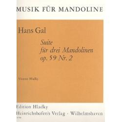 Gál, Hans: Suite Nr.2 op.59 : für 3 Mandolinen Stimmen