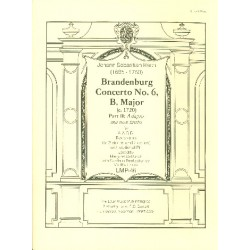 Bach, Johann Sebastian: Brandenburgisches Konzert b major part 2: for 4 recorders (AABB) or 2 violins and 2cellos and opt. piano