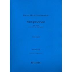 Zimmermann, Bernd Alois: Antiphonen : für Viola solo, Sprecher und kleines Orchester Viola solo