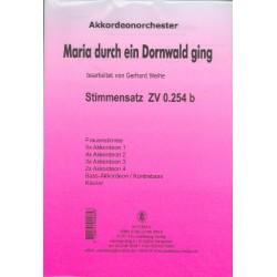 Maria durch ein Dornwald ging : für Frauenstimme, Akkordeonorchester, Klavier und Kontrabass Stimmensatz