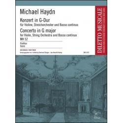 Haydn, Johann Michael: Konzert G-Dur MH52 : für Violine, Streichorchester und Bc Partitur