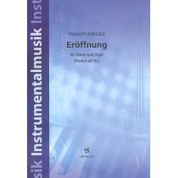 F├╝nfgeld, Traugott: Er├Âffnung Nr.1 : f├╝r Bl├ñser und Orgel (Pauken ad lib.) Partitur