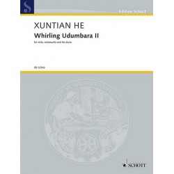 He, Xuntian: Whirling Udumbara no.2 : for viola, cioloncello and he-drum score and parts