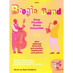 Goddard, Mark: Boogie Band Grades 0-3 for flexible brass ensemble (easy)