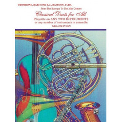 Classical Duets for trombone, baritone bass clef, bassoon or tuba, score