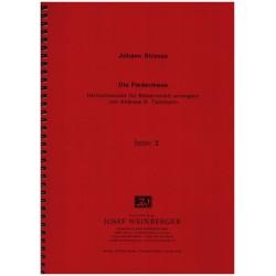 Strauß, Johann (Sohn): Die Fledermaus für Flöte, 2 Oboen, 2 Klarinetten, 2 Hörner und 2 Fagotte, Stimmen