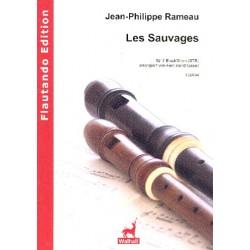 Rameau, Jean Philippe: Les sauvages : für 3 Blockflöten (STB) 3 Spielpartituren