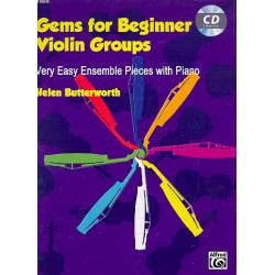Butterworth, Helen: Gems for Beginner Violin Groups (+CD) for violin ensemble and piano score