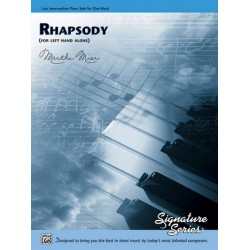 Mier, Martha: Rhapsody : for piano left hand alone