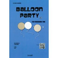 Greussing, Stefan: Balloon Party : für Percussion-Trio mit 3 Luftballons und 3 Kochlöffeln Partitur und Stimmen
