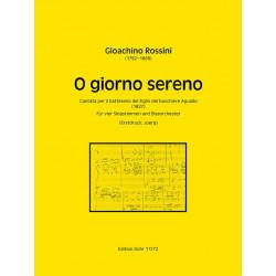Rossini, Gioacchino: O giorno sereno : für 4 Stimmen und Blasorchester Partitur