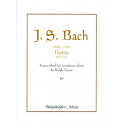 Bach, Johann Sebastian: Partita d-minor BWV1013 : for trombone