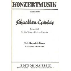 Bakos, Barnabas: Schwalben-Csárdás : Konzertstück für Violine und Salonorchester
