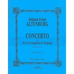 Altenburg, Johann Ernst: Concerto : for 7 trumpets and timpani score and parts