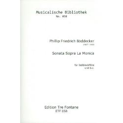 Böddecker, Philipp Friedrich: Sonata sopra La Monica : für Bassblockflöte und bc