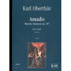 Oberthür, Charles: Amadis op.297 : Marche-Fantaisie per 2 arpe partitura e parti