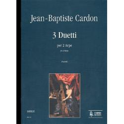 Cardon, Jean-Baptiste: 3 Duetti : per 2 arpe partitura e parti