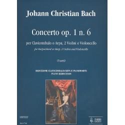 Bach, Johann Christian: Concerto op.1,6 per clavicembalo, (arpa), 2 violini e violoncelli : per clavicembalo e pianoforte