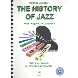 Jasinski, Richard: The History of Jazz (+CD) From Ragtime to Jazz Rock für 1-2 Saophone