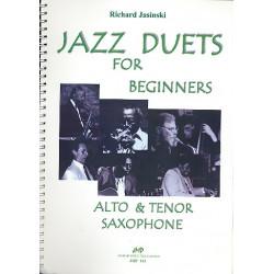 Jasinski, Richard: Jazz Duets for Beginners for 2 saxophones (AT)