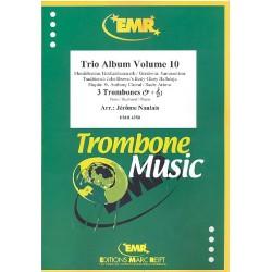 Trio Album vol.10 : für 3 Posaunen, Klavier (Orgel) und Rhythmusgruppe ad lib., Partitur und Stimmen