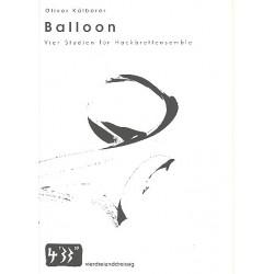 Kälberer, Oliver: Balloon : für Hackbrett-Ensemble Partitur und Stimmen