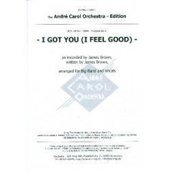 Brown, James: I got You (I feel good) : for voice and big band score and parts