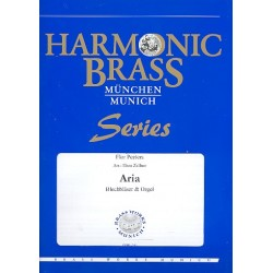 Peeters, Flor: Aria : für 2 Trompeten, Horn, Posaune, Tuba und Orgel Stimmen