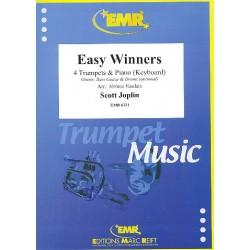 Joplin, Scott: Easy Winners : f├╝r 4 Trompeten und Klavier (Keyboard) (Percussion ad lib) Partitur und Stimmen