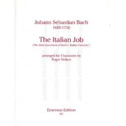 Bach, Johann Sebastian: The Italian Job : for 4 bassoons score and parts