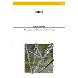 Ravel, Maurice: Bolero for flute ensemble and snare drum score and parts