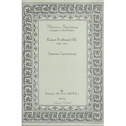 Kaiser Ferdinand III.: Litaniae Lauretanae : für 2 Soprane Alt, Tenor, Bass und Bc, Partitur und Stimmen