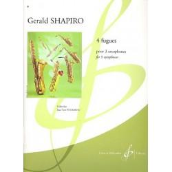Shapiro, Gerald: 4 fugues : pour 3 saxophones (SABar) partition et parties