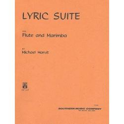 Horvit, Michael: Lyric Suite : für Flöte und Marimba Partitur und Stimme