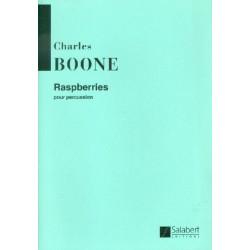 Boone, Charles: Raspberries : für 3 Percussionisten Spielpartitur