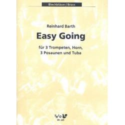 Barth, Reinhard: easy going : f├╝r 3 Trompeten, Horn, 3 Posaunen und Tuba Partitur und Stimmen