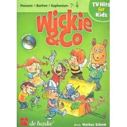 Wickie und Co (+CD) : für Posaune (Bariton/Euphonium) Bassschlüssel und Violinschlüssel