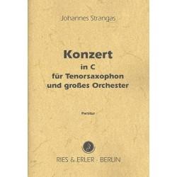 Strangas, Johannes: Konzert in C für Tenorsaxophon in C oder B und Orchester Partitur