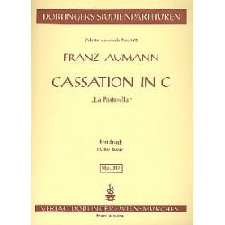 Aumann, Franz Joseph: Cassation in C : f├╝r Horn, Violine, Viola und Violoncello Studienpartitur