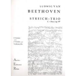 Beethoven, Ludwig van: Trio D-Dur op.87 für 3 Violen (2 Violen und Violoncello) Stimmen