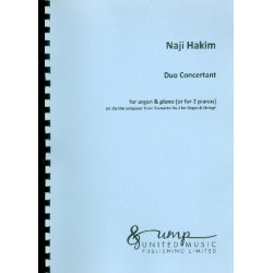 Hakim, Naji: Duo Concertant : for organ and piano (2 pianos) 2 scores