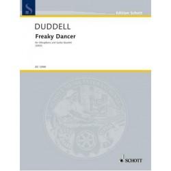 Duddell, Joe: Freaky Dancer : fü Vibraphon und 4 Gitarren Partitur und Stimmen